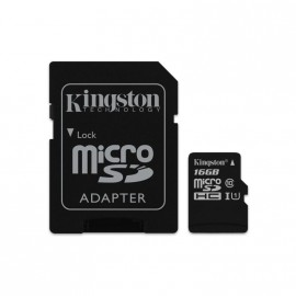 KINSGTON MICRO SD XC CANVAS 16GB SELECT PLUS 100R A1