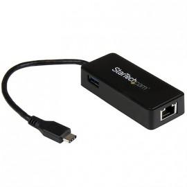 Adaptador Startech de Red Gigabit USB-C con Puerto USB Extra