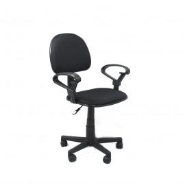 Silla Xtech de escritorio con apoya brazos negra
